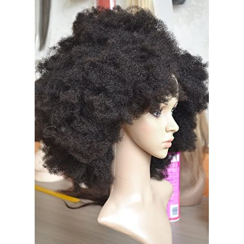 outlet K ryssma Natural Looking Afro Kinky Curly Wigs for Black Women Best  Indian Remy dcee2bd950