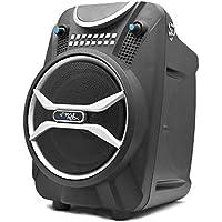 PYLE PWMAB210BK Boom Rock Bluetooth Karaoke Speaker Recording System, Rechargeable Battery, Wireless Mic