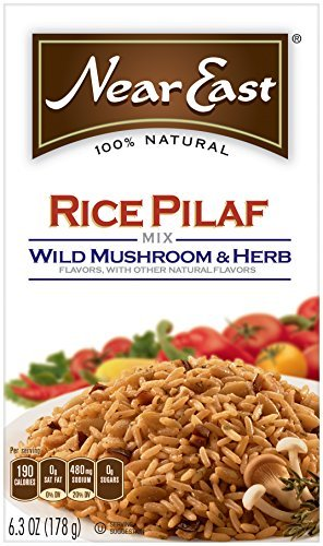 Mushroom Pilaf - Near East Wild Mushrooms & Herbs Rice Pilaf Mix 6.3oz (Pack of 12 Boxes) by Near East