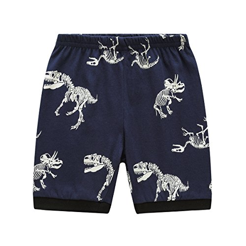 Koian Little Boys Short Pajamas Sets Toddler PJS Cotton Kids Sleepwears (Blue Dinosaur, 2T) by Koian (Image #5)