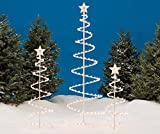 Set of 3 Lighted Spiral Christmas Trees - 3 Ft 4 Ft and 6 Ft - 270 Clear Lights - CTS - UL588 Certified