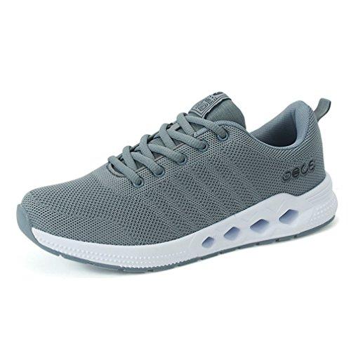 LFEU Homme Chaussure de Running Course D'Air Sneakers Athlétique Jogging voyagé Tennis Chaussure de Mulitsport Outdoor Fitness Antichoc Légère Gris iOjBrj0