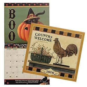Dianna Swartz Country Welcome 2016 Calendar Home Wall Decor Home Kitchen