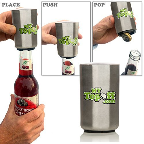 Mytopoff Six Pack Special Stainless Push-down Bottle Openers Free Ship