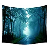 WCHUANG Tree Forest Tapestry Plant Bedspread Beach Blanket Picnic Mat Wall Decor, 150130 cm (6)