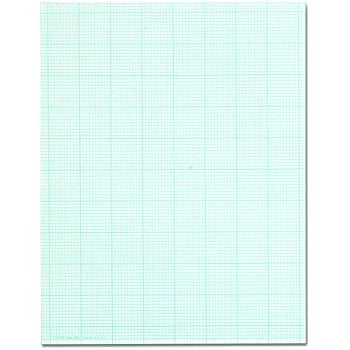 TOPS 35101 Cross Section Pads w/10 Squares, 8 1/2 x 11, White, 50 Sheets