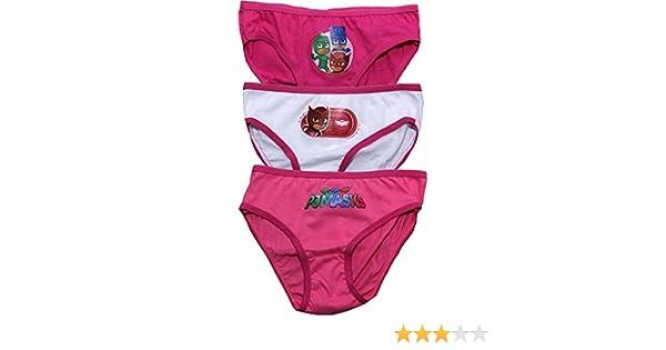 Amazon.com: PJ Masks Childrens Girls Owelette Three Pack Underwear Briefs Set Pink-White-Pink 2-3 Years New 2017-2018: Clothing