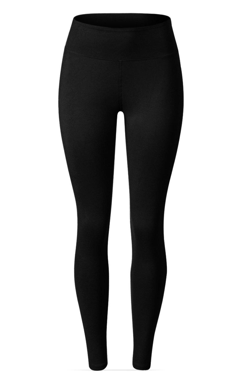 SATINA High Waisted Leggings – 22 Colors – Super Soft Full Length Opaque Slim (One Size, Black) by Sejora (Image #3)