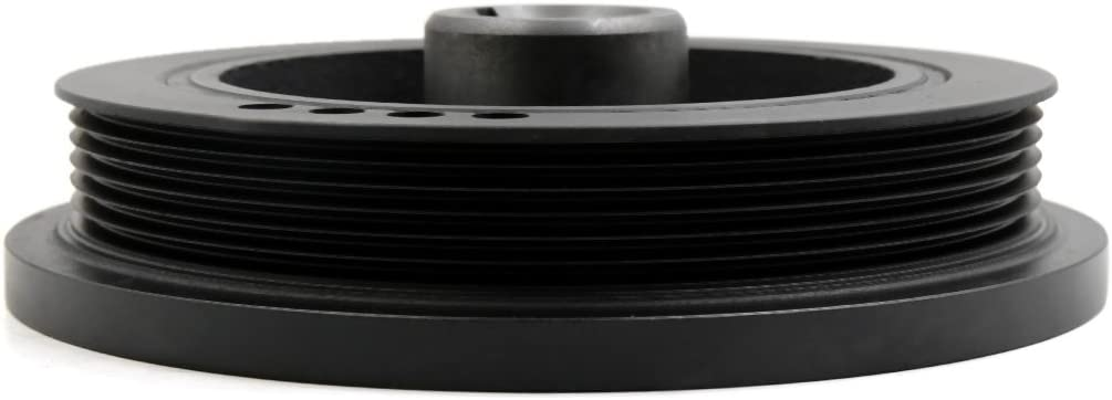 Uxcell a17081100ux0026 Black 33002920 Harmonic Balancer Crankshaft Pulley for 1987-2001 Jeep Cherokee L6 4.0L
