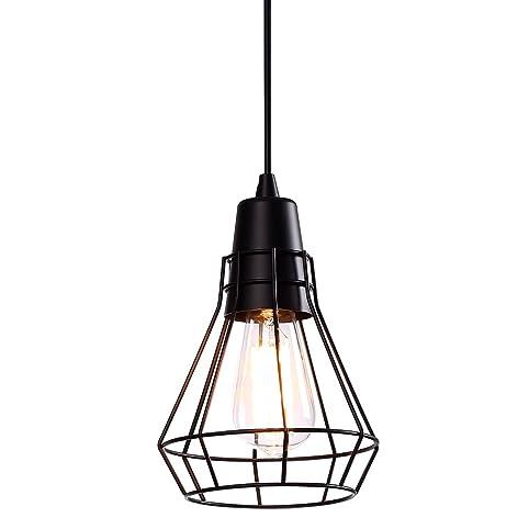 Hanging Vintage Light One-Light Vintage Industrial Edison Style Adjustable Pendant Lighting with Metal L&  sc 1 st  Amazon.com & Hanging Vintage Light One-Light Vintage Industrial Edison Style ...