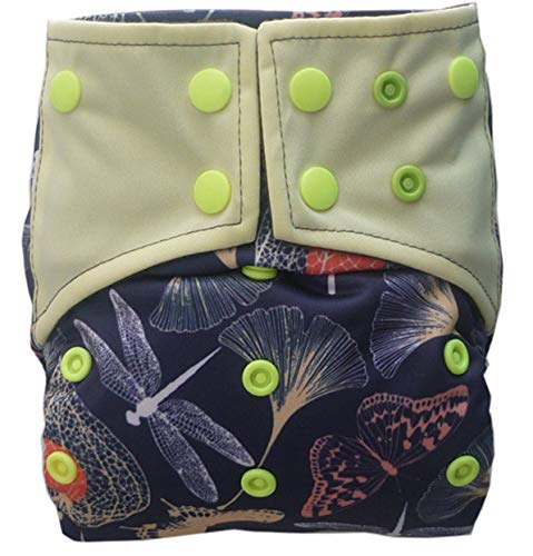 AIO Reusable Washable Cloth Diaper Nappy Charcoal Bamboo Insert Overnight A02