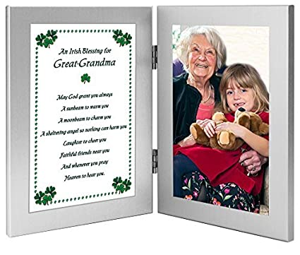 Amazon.com: Great-Grandma Irish Blessing - Birthday Gift for a Great ...