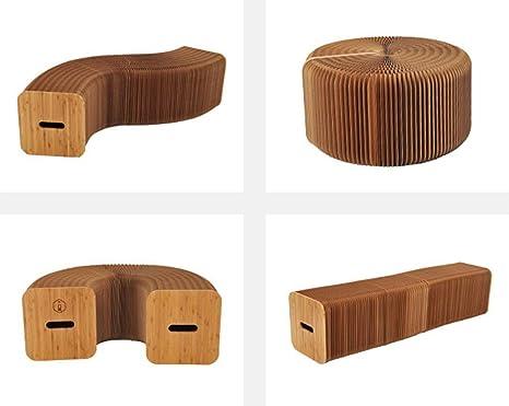 Qsji sedia pieghevole creative design a fisarmonica sgabello di