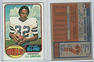 1976 Topps Football, #300 O.J. Simpson(All Pro), Buffalo Bills