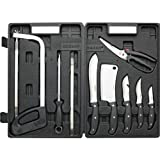 Maxam 13 Piece Field Butcher Dressing Big Game Deer Processing Hunting Knife Set