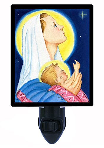 Night Light - Holy Star of Wonder - Mary and Jesus - Religious - LED NIGHT LIGHT by Night Light Designs