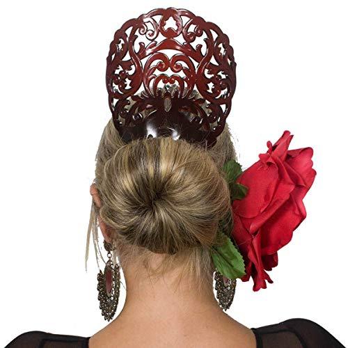 Spanish Comb - Ole Ole Flamenco Comb for Hair Concha Brown Flamenco Dancer Spanish Combs Peineta Flamenco Marron Ornamental Hair Pins
