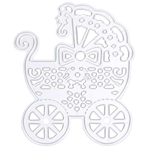 Jocestyle Metal Cutting Dies Stencil for DIY Scrapbooking Album Card Making Embossing Template Decorative Scrapbook Post Card Decoration (08 Baby Carriage)