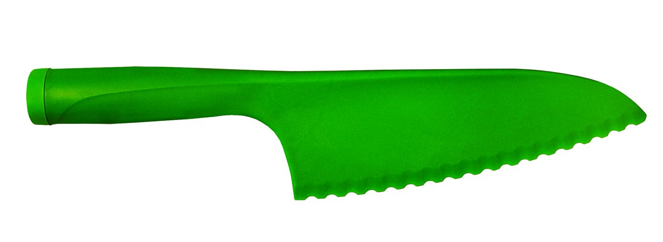 "Update International LK-115 11.5"" Lettuce Knife, Polypropylene (PP) 1 11.5 inch lettuce knife is made with green plastic. This item prevents lettuce from browning. Ideal for cutting salads, fruits, and vegetables."