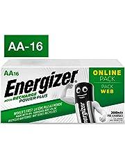 Energizer AA Akkus, Recharge Power Plus Akku, 16 wiederaufladbare Batterien AA (2000 mAh)
