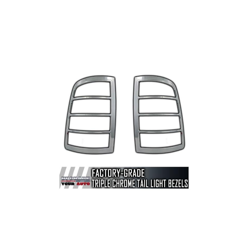 2009 2012 Dodge Ram SES Chrome Tail Light Bezels