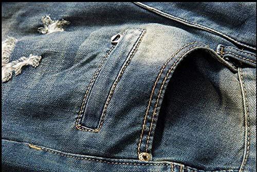 Classici Da Moda In Classic Jeans service Coltivazione Alla Cher Cotone Self Ssig Blau Giovane Uomo Straight qwx7XTx