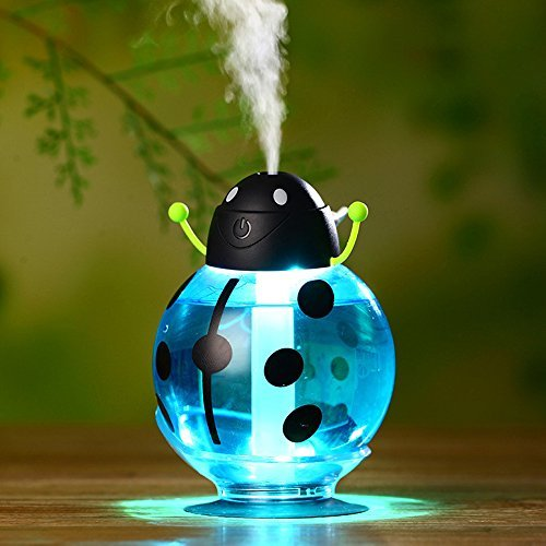 Beatles Humidifier in Car Automatic Shut-Off with Optional Night Light Cool Mist 0 Radiation for Baby Room 260ml (Blue)