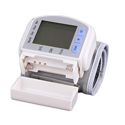 Yuehg Tensiómetro de Brazo Cómodas y Precisas con Gran Pantalla LCD,White