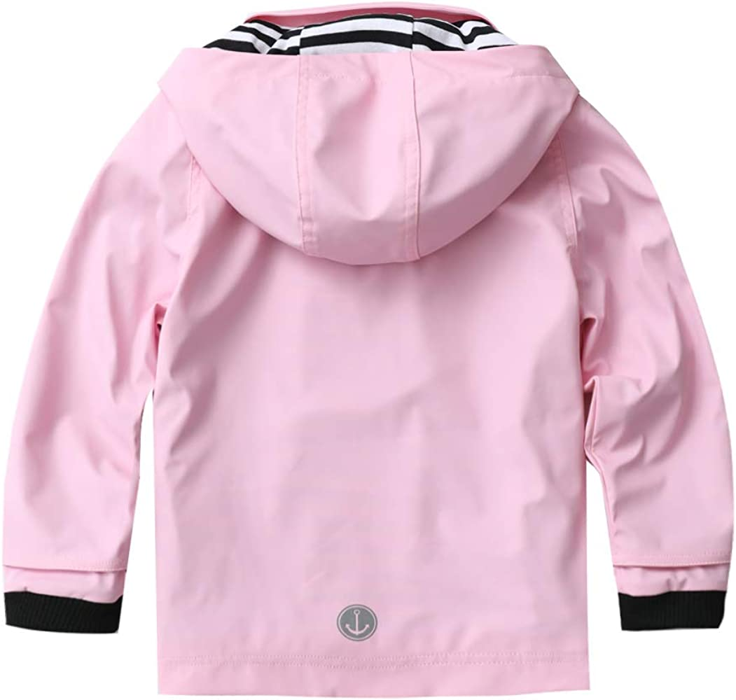 M2C Girls Hooded Lightweight Windproof Jacket Cotton Lined Windbreaker