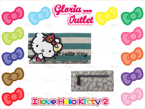 Hello Kitty Wallet Purse Pastel Bow Faux Leather Loungefly Sanrio ()