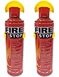 Maneko Fire Stop Spray Fire Extinguisher with Stand for Car, Home & Office Use (500ml) - Pack of 2