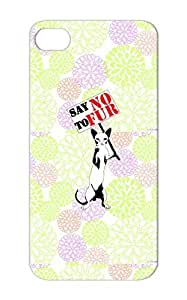Say NO To Fur Stop Fur No Art Design Fuck Anti Say Mink Animal Sphynx Cat Graffiti TPU Shockproof White For Iphone 5 Cover Case