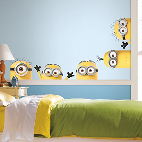RoomMates Despicable Me 3 Peeking Minions Giant Peel And Stick Wall Decals -