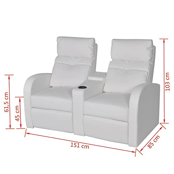 Furnituredeals Sillon con Diseno de Cubo Sillon reclinable ...