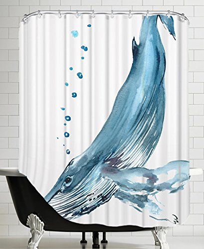 American Flat Humpback Whale Shower Curtain By Suren Nersisyan 71quot