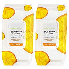 Clinical Works – 2 Pack (60 Count Each) Vitamin C Antioxidant Micellar Cleansing Wipes