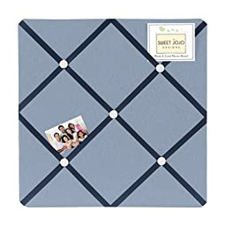 Light Blue Fabric Memory/Memo Photo Bulletin Board for Ocean Blue Collection