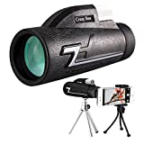 Monocular Telescope,16x50 High Power Prism Scope With Quick Smartphone Mount Adapter and Tripod - BAK4 Prism FMC for Bird Watching Hunting - telescopes for adults