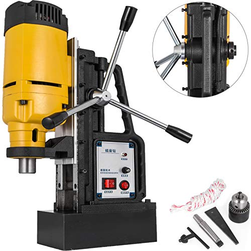 Mophorn 1200W Magnetic Drill Press with 9 10 Inch 23mm Boring Diameter Magnetic Drill Press Machine 2920 Lbs Magnetic Force Magnetic Drilling System 500RPM Portable Electric Magnetic Drill Press