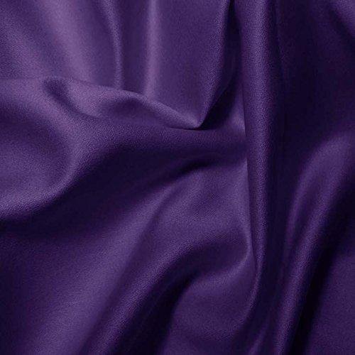Pima Cotton Sateen Purple Fabric