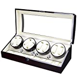 Luxury Gift Automatic Rotate Watch Winder 8+9 Leather Storages Display Case Box