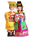 Korean Beauty Hanbok Doll Korean Traditional King and Queen Wedding Doll Figurines Basic Wedding Gift Marriage Couple Dolls High Quality