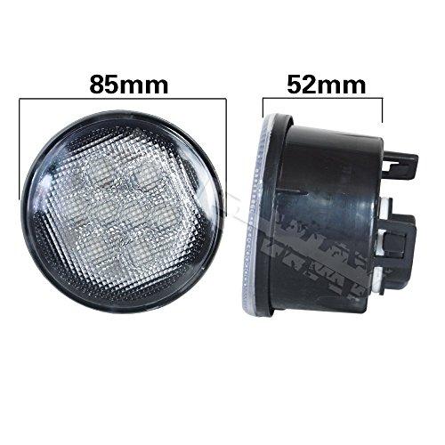 UPC 602447454356, LITE-WAY Jeep JK Wrangler 07-16 Front Turn Signal Lights Amber Led Silver Lens (JK-FTS-S-US)