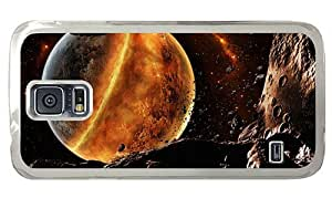 Hipster Samsung Galaxy S5 Case carry Fire Planet PC Transparent for Samsung S5