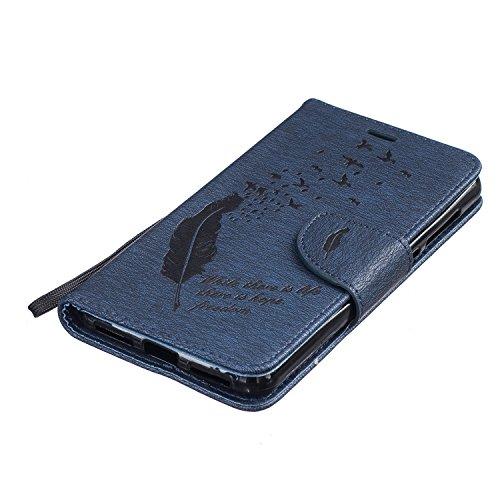 Funda Libro Huawei Y5 II PU Leather Cuero Suave Case -Sunroyal ® [Anti-Scratch] Ultra Slim Flip Carcasa Cover, Cierre Magnético, Función de Soporte,Billetera con Tapa para Tarjetas Caja del Teléfono p B-08
