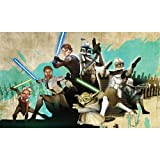 RoomMates JL1215M Star Wars: the Clone Wars Prepasted Chair Rail Wall Mural