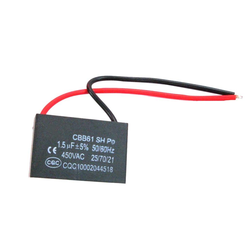 Sharplace Condensateur de Ventilateur de Plafond CBB61 AC 450V 1.5UF