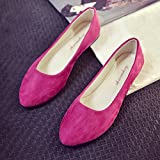 Women Flat Shoes Comfortable Slip On Pointed Toe Casual Comfortable Flats,Ballet Flats (Hot Pink, US 6)