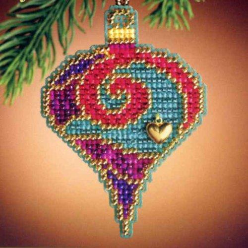 Garnet Spiral Beaded Ornament Kit Mill Hill 2011 Christmas (Spiral Jewel)