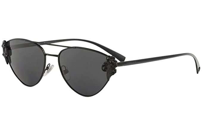 fd2dbac1185 Image Unavailable. Image not available for. Colour  Versace VE 2195B 100987  Black Metal Cat-Eye Sunglasses ...